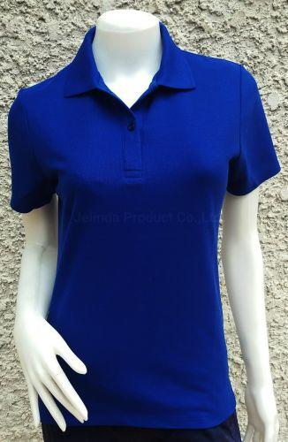 เสื้อโปโลหญิง สีน้ำเงิน
