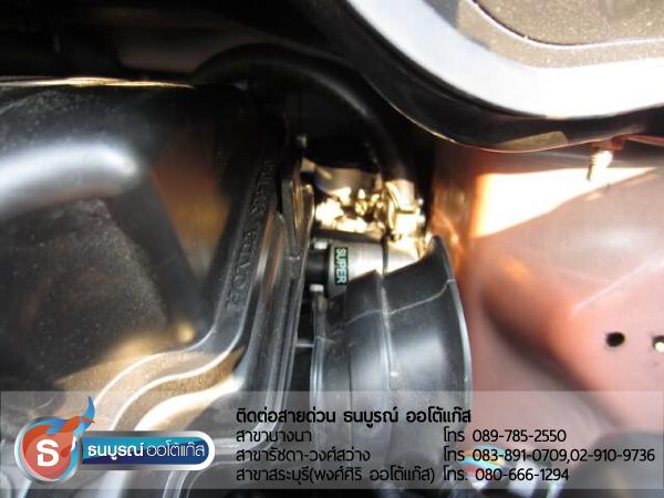หม้อต้มแก๊ส (Reducer) HONDA Jazz Japan 2012 ป้ายแดง กับชุด Advanced-OBD ของ ENERGY-REFORM ติดถังโดนัท 42 ลิตร โดยธนบูรณ์ ออโต้แก๊ส