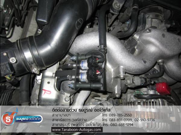 รางหัวฉีด Keihin 2 สูบ ตัวอย่างผลงานการติดตั้งระบบแก๊สชุด Subaru Impreza 2.0 ปี 2008 2000cc ติดแก๊ส LPG หัวฉีด ชุด Prins VSI อุปกรณ์นำเข้าจากเนเธอร์แลนด์ ติดถังโดนัท Energy Reform 52 ลิตร โดย ธนบูรณ์ ออโต้แก๊ส