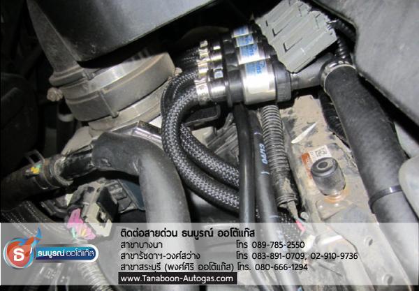 ตำแหน่งติดตั้งรางหัวฉีด 4 สูบ (KEIHIN) Review รีวิวผลงานตัวอย่างการติดตั้งระบบแก๊สรถยนต์สำหรับรถ Chevrolet CAPTIVA เครื่องยนต์ 2400 cc. 4 สูบ ติดแก๊ส LPG หัวฉีด ชุด Prins VSI อุปกรณ์นำเข้าจากเนเธอร์แลนด์ ติดถัง Donut 43 ลิตร ใต้ท้อง รับประกัน 5 ปี มัลติวาล์ว Energy Reform(Made in Italy) ลิตร โดย ธนบูรณ์ ออโต้แก๊ส