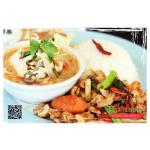 Thailander Tofu Tomyum Soup, Golden Cashew Nut with Chicken, Thai Smile Salad and Steamed Rice