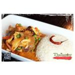 Thailander House Special Curry with Steamed Rice