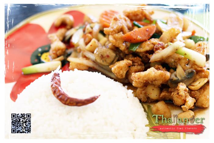 Thailander Golden Cashew Nut with Steamed Rice