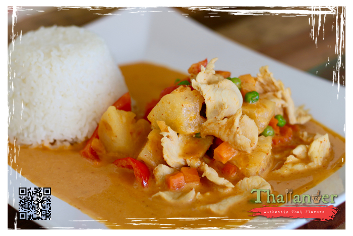 Thailander Pineapple Curry with Steamed Rice