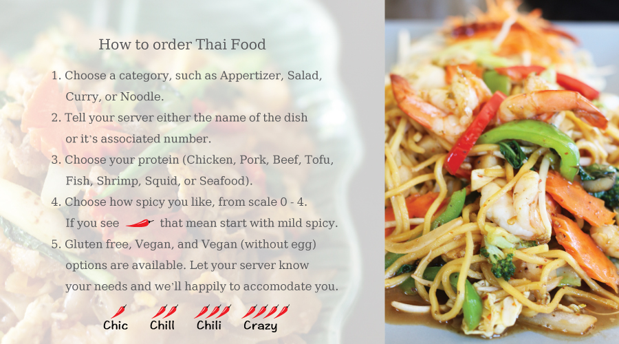 How to order Thailander Food