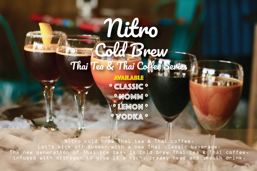 Nitro Cold Brew Thai Tea and Coffee