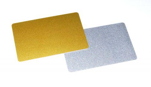 บัตรพลาสติก pvc gold metallic