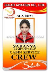 บัตรพนักงาน แอร์โอสเตช solar aviation