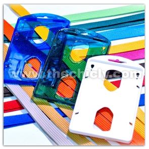 กรอบใส่บัตรแบบสีต่างๆ