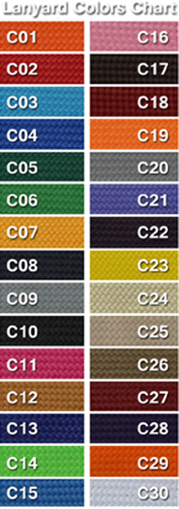 Lanyard Color Chart