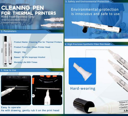 Cleaning Pen for thermal Printers