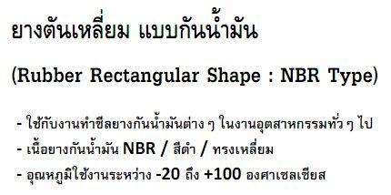 Rubber Rectangular Shape - NBR