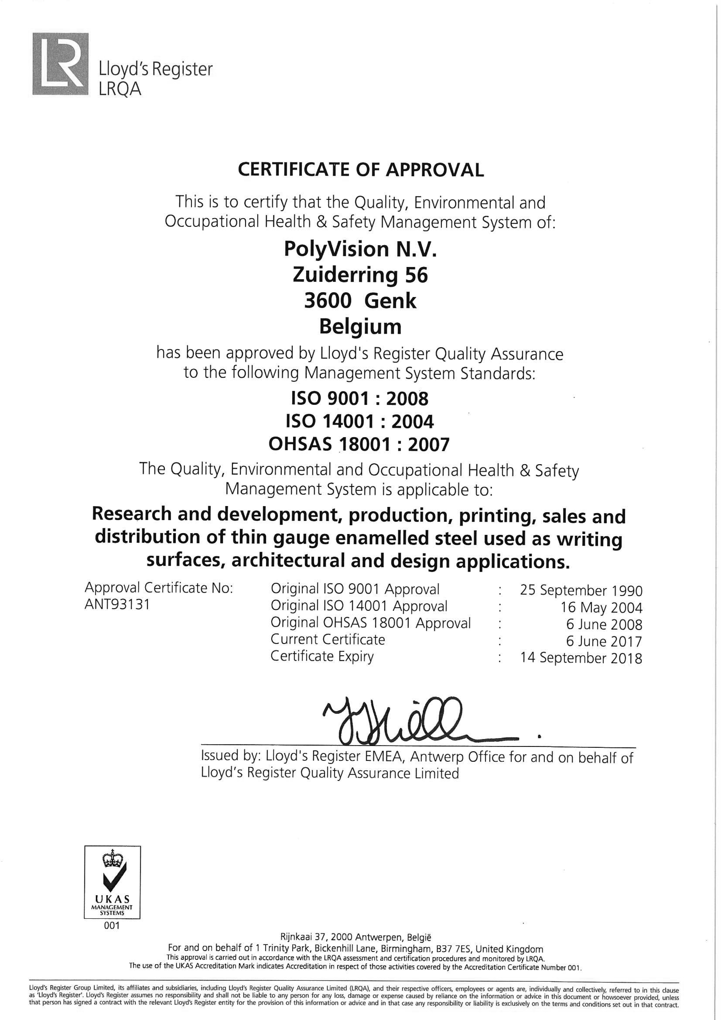Polyvision-ISO9001