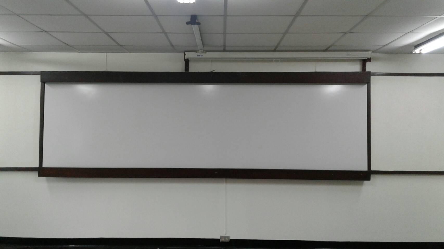 กระดานเซรามิคไวท์บอร์ด ผลงานติดตั้งมหาวิทยาลัยเทคโนโลยี พระจอมเกล้าธนบุรี