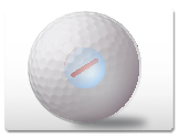 Chip insert golf ball