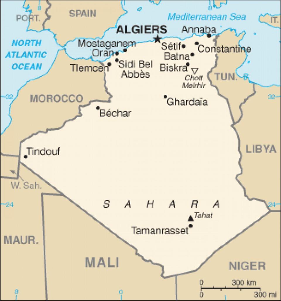 แผนที่แอลจีเรีย Algeria Map