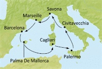 Italy, France, Spain, Balearic Islands