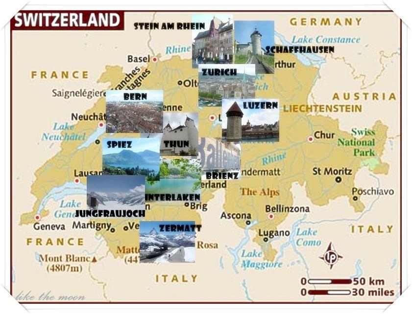 แผนที่สวิตเซอร์แลนด์