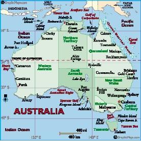 แผนที่ออสเตรเลีย