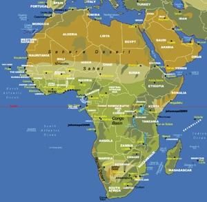 แผนที่แอฟริกา