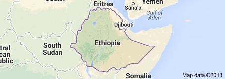 แผนที่ประเทศ เอธิโอเปีย