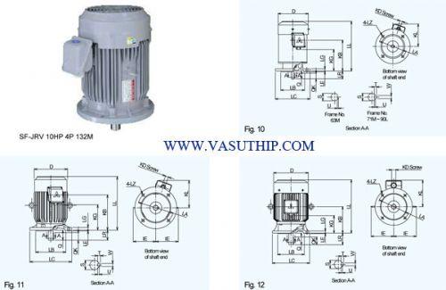 มอเตอร์ไฟฟ้า, MITSUBISHI ,รุ่น SF-JRV,vasuthip