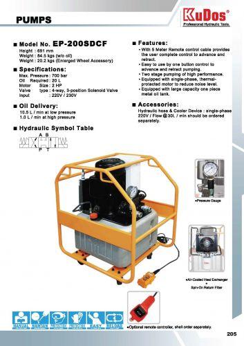 KUDOS USA, Kudos Electric Pump 700 Bar EP-30S EP-76MS