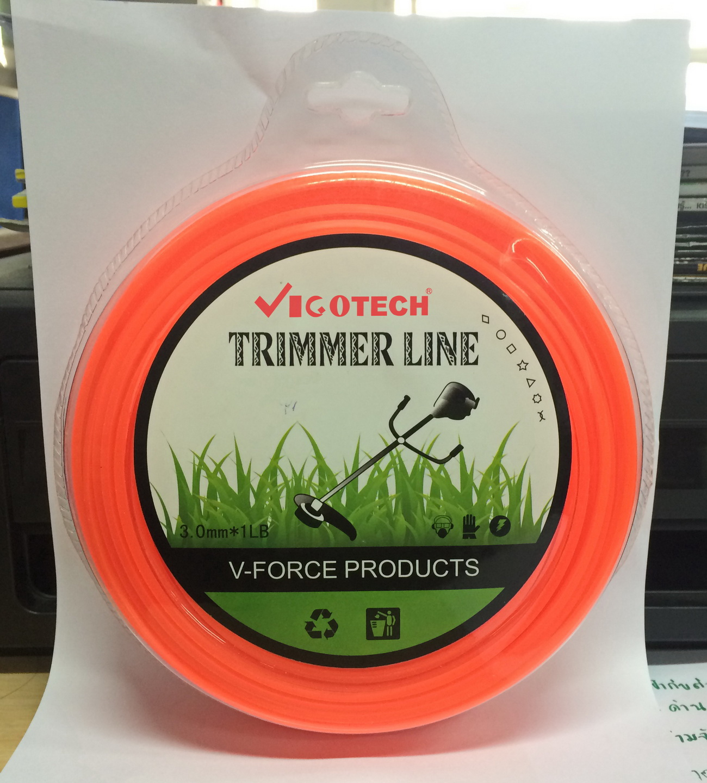 VIGOTECH เอ็นตัดหญ้า 3.0มิล สีส้ม