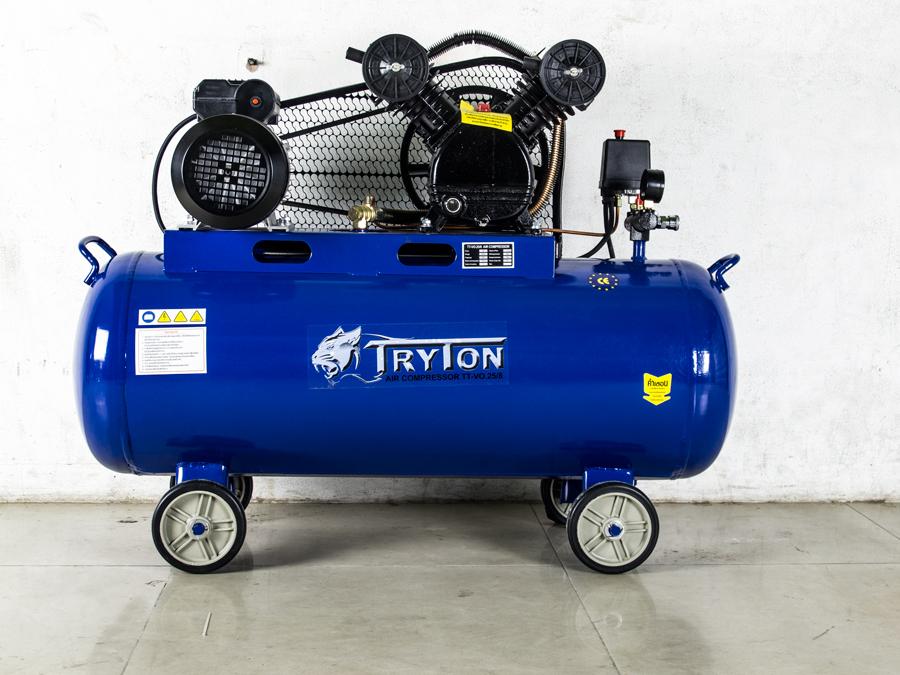 TRYTON ปั๊มลมสายพาน100ลิตร 3แรงม้า