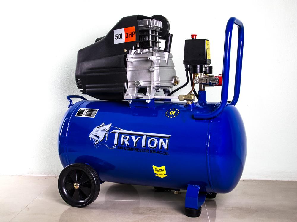 TRYTON ปั๊มลมโรตารี่50ลิตร 3แรงม้า (งานหนัก)