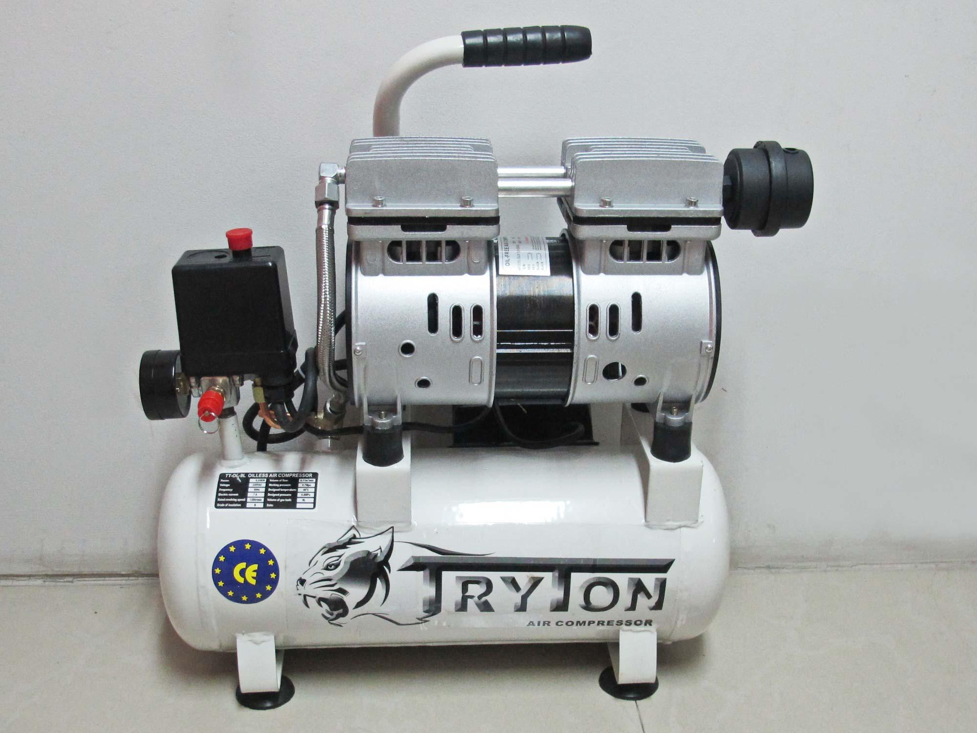 TRYTON ปั๊มลมเสียงเงียบ Oil Free 9ลิตร