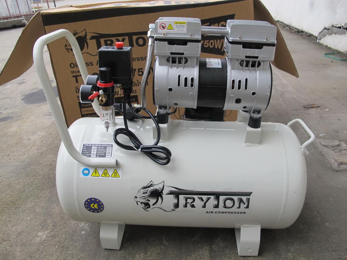 ขาย TRYTON ปั๊มลม 50ลิตร เสียงเงียบ Oil Free