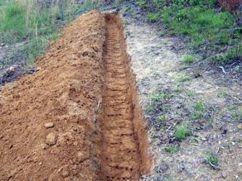 ดินบนพื้นที่ลาดเท