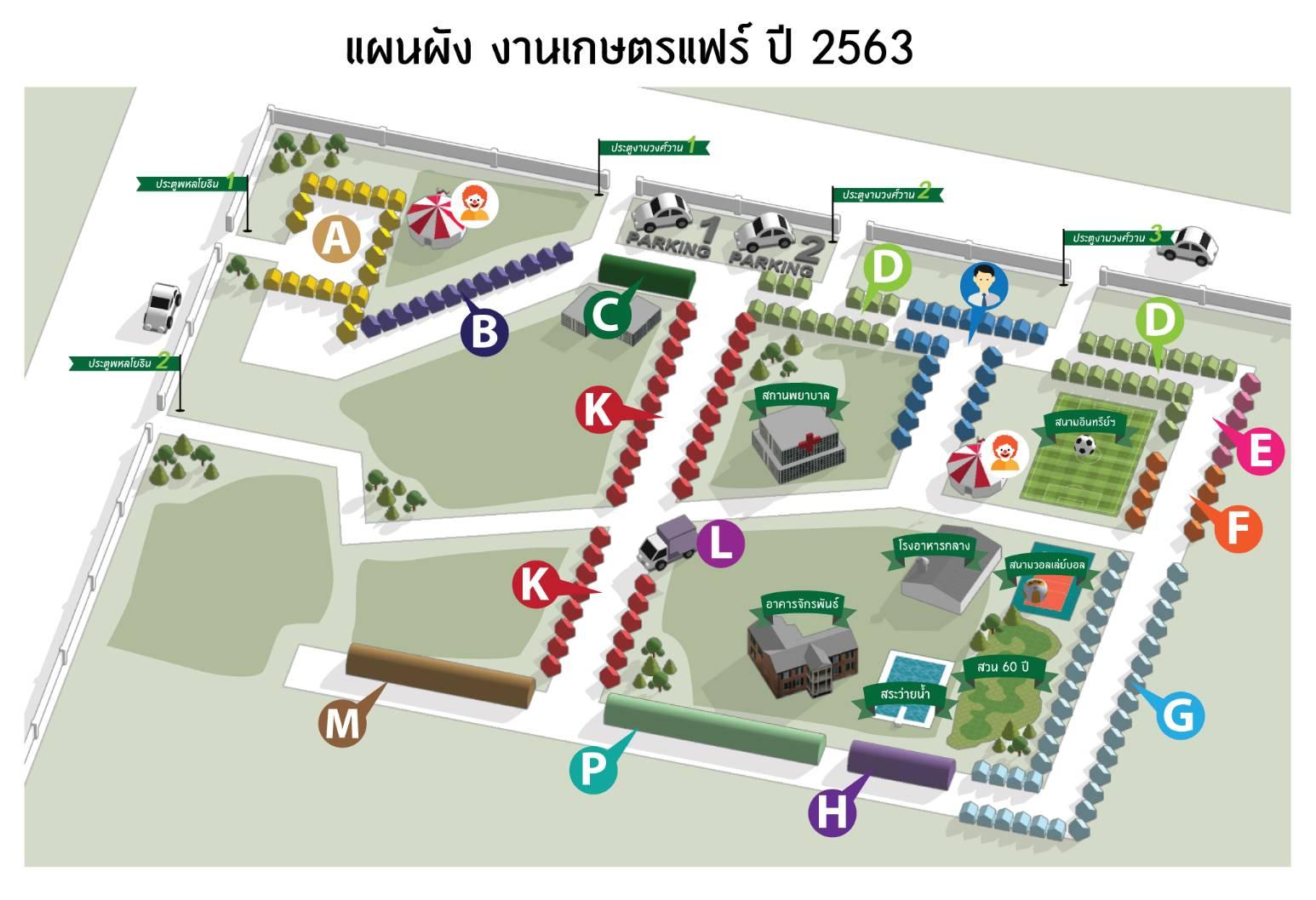 แผนผังงานเกษตรแฟร์ 2563