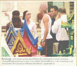 David Backham in Thailand from Kom Ched Luk Newspaper