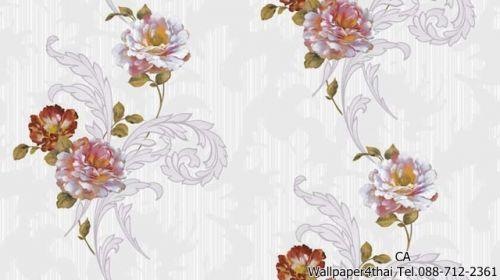 วอลเปเปอร์ลายดอกไม้วินเทจ-9806-1