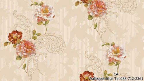 วอลเปเปอร์ลายดอกไม้วินเทจ-9806-2