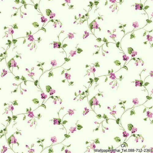 วอลเปเปอร์ลายดอกไม้วินเทจ-ER8109