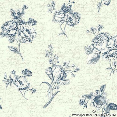 วอลเปเปอร์ลายดอกไม้วินเทจ-ER8144