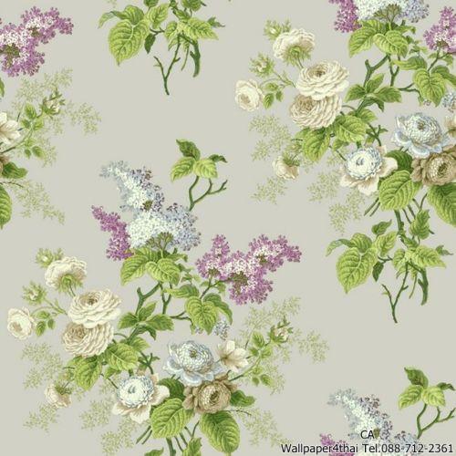 วอลเปเปอร์ลายดอกไม้วินเทจ-ER8179