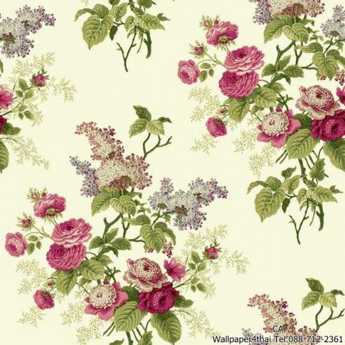 วอลเปเปอร์ลายดอกไม้วินเทจ-ER8181