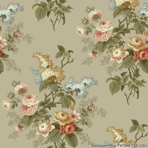 วอลเปเปอร์ลายดอกไม้วินเทจ-ER8182