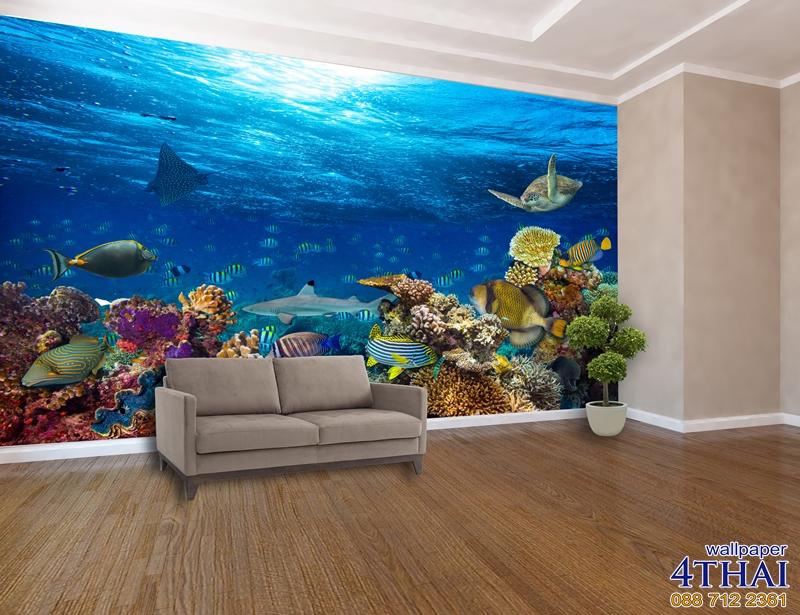 ภาพติดผนังภาพใต้ทะเลลึก