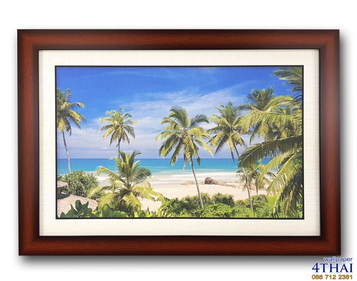 ภาพชายหาดต้นมะพร้าวสวย