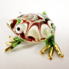 Hand Blown Glass Red-Green Frog Gilt 1