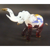 Hand Blown Glass Red Streak Elephant Gilt 1