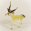 Hand Blown Glass Yellow-White Deer Gilt 1