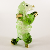 Hand Blown Glass Green Poodle Dog Gilt 1