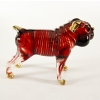 Hand Blown Glass Red Bulldog Gilt 1
