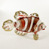 Hand Blown Glass Red Lovely Fish Gilt #2-1